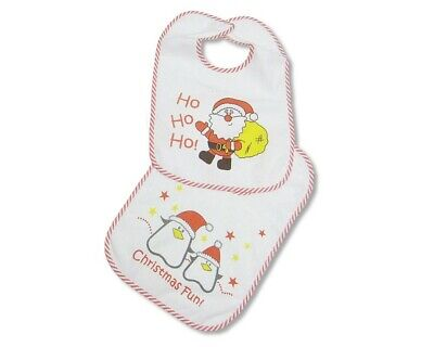 753 Single or 2-Pack Large Long Sleeved Baby Bibs Unisex with PEVA back