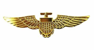 Top Gun Gold Pin Aviator Airline Pilot Wings Badge Gold Top Gun Stag Fancy Dress