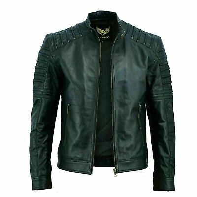 Rksports style 962 Mens  Fashion Leather Motorcycle motorbike Jacket with Armour