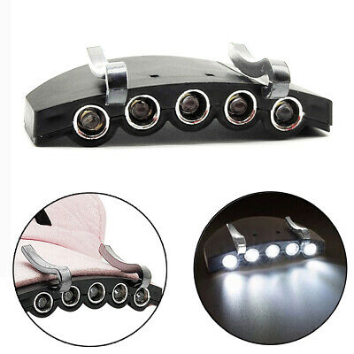 Outdoor Hot Clip On 5LED Head Cap Hat Light Head Lamp Hunting Camp Fishing G2R2