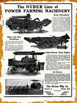 Vtg Metal Sign Western Special /& Traction Engine Pictured Look 1920 Huber MFG