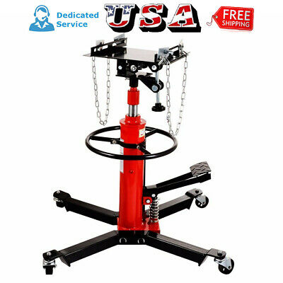 Fasclot 1660lbs Transmission Jack 2 Stage Hydraulic w// 360/° for Car Lift 0.75 Ton