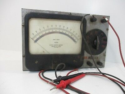 Vintage Simpson DC Volt Meter with Red/Black Probes Steampunk Project Untested