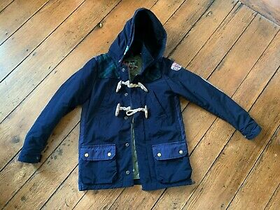 scotch soda Scotch Shrunk Super Jacket Boys Navy Toggle Jacket Coat Size 10