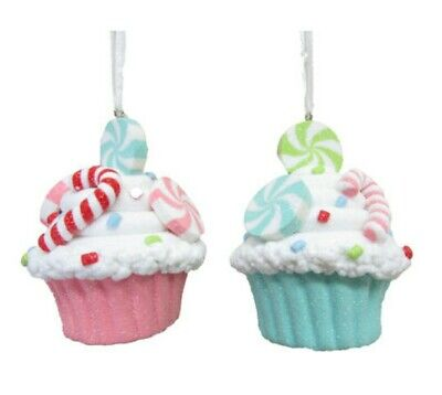 December Diamonds Icecream Cones w// Sprinkles Set of 2 Christmas Ornaments