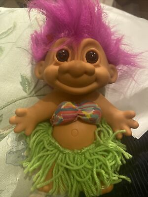 Vintage 1990s Extra Large Doll 17 Inches The Russ Troll Collection Purple Hair