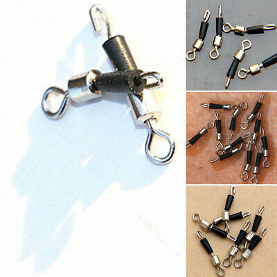 30X Ball Bearing Swivel Solid Rings Quick Fast Link Fishing Connector Hooks Nice