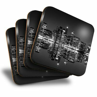 Yellow Taxi Cab in New York Times Square USA Set of 4 Coasters
