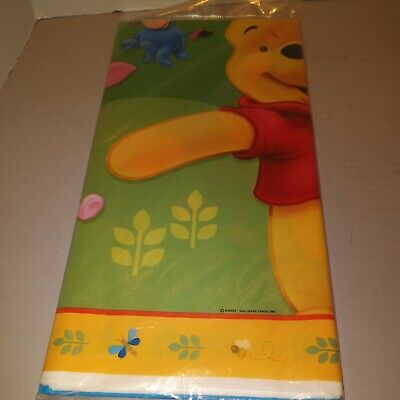 """Party Express Pooh/'s Happy Day Table Cover 54/""""x89 1//4/"""""""