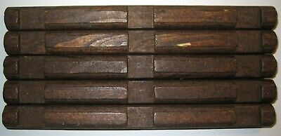 "Lincoln Logs Specialty Logs Wooden 6/"" Long Round 4 Notch 2 Notches Double Sided"