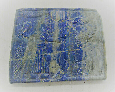 Rare Ancient Near Eastern Lapis Lazuli Tablet Fragment