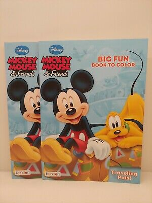 [2] Mickey Mouse & Friends - Traveling Pals Coloring Book - Brand NEW