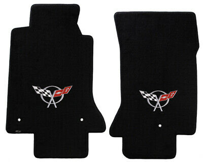Lloyd Mats Corvette 2 PC Black Velourtex Mats C5 Logo (1997-2004) XXX620016