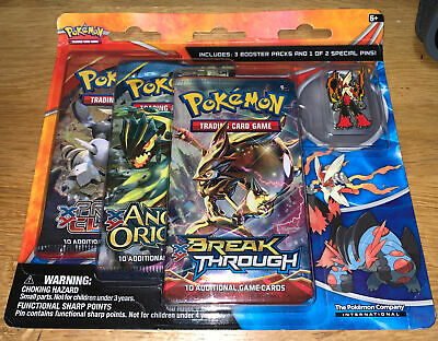 Pokemon XY Break Through Triple Booster Pack With Coin Sableye Promo NEW