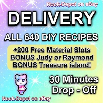 Full Complete All DIY Recipes Full 637 Online Animal Crossing:New Horizons