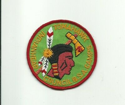 SE SCOUT BSA CAMP TOMAHAWK RESERVATION LEGEND OF CRAZY CHARLIE PATCH INDIANHEAD