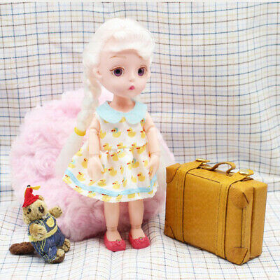 MagiDeal 1//6 Scale Dollhouse Miniature Suitcase Luggage for BJD Doll Blue
