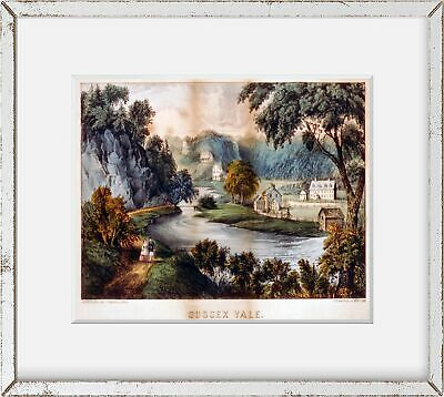 Lake Mohonk,New Paltz,New York,NY,1856-1907,Currier /& Ives,Ulster County