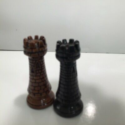 """Ceramic Chess Piece Duncan Medieval Ivory Gold Pawn 3"""""""