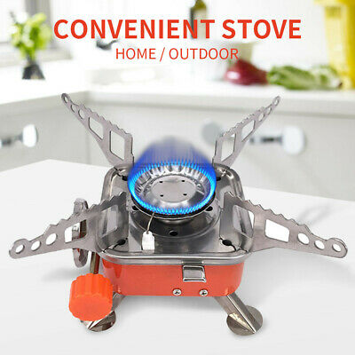 Foldable Portable Camping Hiking Picnic BBQ Cookout Gas Stove Burner Cooker UK