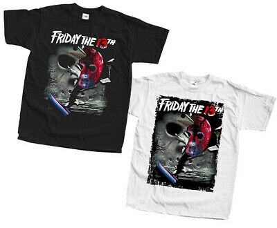 movie poster ALL SIZES S-5XL Friday the 13th V10 T-shirts BLACK