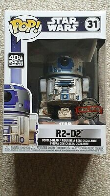 Star Wars R2-D2 Exclusive Dagobah FUNKO POP #31