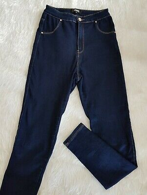 Missguided Women's Blue Dark Wash Skinny Legging Jeans Size 8 High Waist Casual