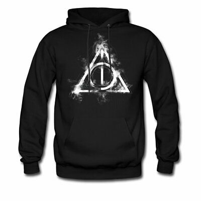 New Deathly Hallows Triangle Sign Harry Potter Gold Hoodie Hooded Sweatshirt