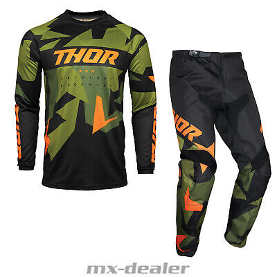 Thor Sector Shear Pantalon MOTOCROSS ENDURO 2019 Sky Slate Gris Orange MX Cross