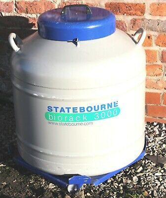 Statebourne Cryogenics Biorack 3000 Liquid Nitrogen Dewar Complete with Racks