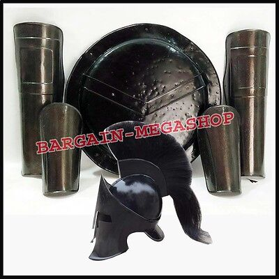 Medieval 300 King Spartan Movie Helm + Shield + Arm & Leg Guards Halloween Gifts