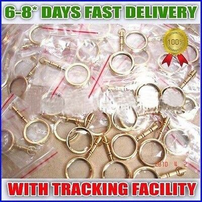 BRASS MAGNIFYING LENS FOR KEY CHAIN LOT OF 50 Pcs Collectible EDH