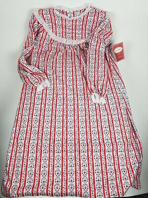 NEW Lanz of Salzburg Flannel Nightgown Girl/'s Tyrolean NWT Red 2T 3T 4T 6 10 12