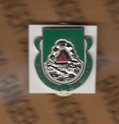 US Army 155th Supply /& Services Bn Quartermaster QM Support crest DUI badge V-21