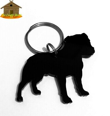 Staffordshire Bull Terrier Staffie Dog Keyring Bag Charm Gift wrapped Free P/&P