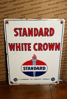 OLD PORCELAIN DRUMRIGHT OKLAHOMA AMOCO PIPELINE SIGN