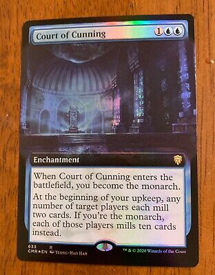 Court of Cunning Extended Art x1 Commander Legends Pack Fresh NM//M Ships Now!