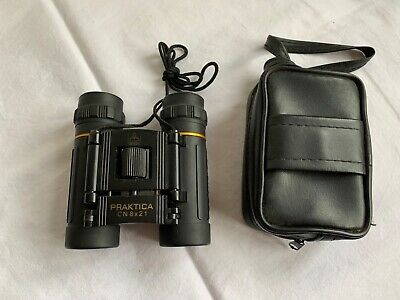 Carry Case Discovery Adventures Foldable Mini Compact Sport Binoculars 8 x 21mm