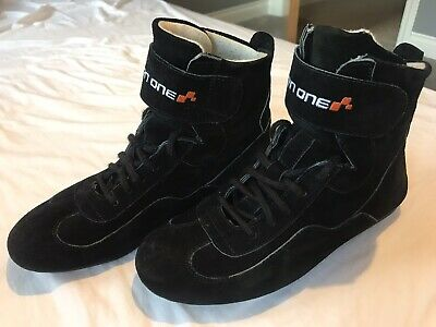Turn One Basic Race Boots Black Non-FIA Race Karting Rally