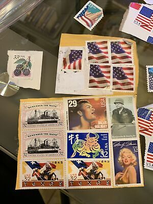 Assorted Mixed Stamps Multi & Singles Off Of Packages Unused BV 18.39 BIN $10