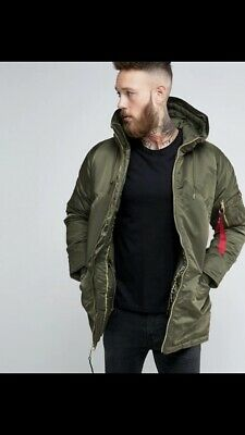 Genuine Alpha Industries Sage Green N3B Core Line Extreme Cold Weather Parka