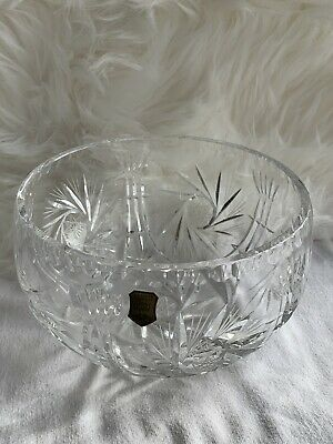 Compote Three Gift Clear Frosted Satin Vintage Novelette II Lead Crystal Tulip Bowl Pounds