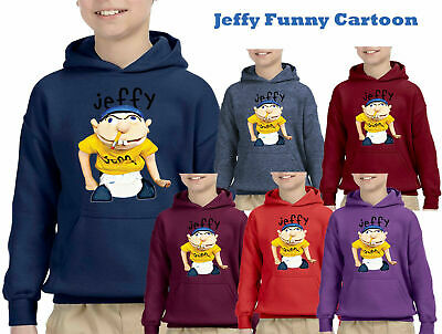 Jeffy Puppet Hoodies Kids Spring Autumn Hoodies+Trousers Sets Casual Tracksuits