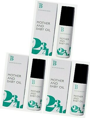3x Bloom and Blossom Mother and Baby oil 100ml in Each New&Sealed #FREE UK P&P #