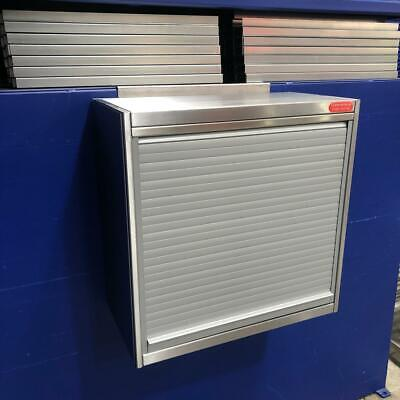 Commercial Kitchen Catering Wall Cupboard With Mid Shelf And Roller Shutter Door