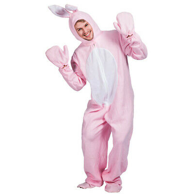 Adults Ladies Mens Pink Bunny Rabbit Easter Spring Animal Fancy Dress Costume