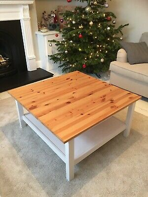 Ikea Hemnes Solid Wood White Coffee Table With Storage Shelf 50 00 Pic Uk - White Coffee Table With Storage Ikea