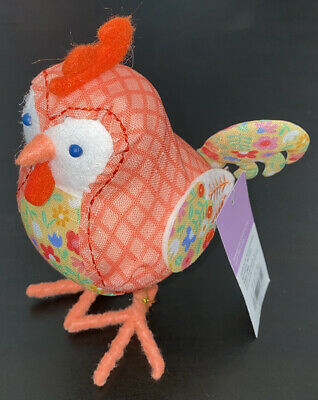 """Formano Easter decor; Decorative egg /""""Rooster/"""" made of glazed porcelain white-silver; CA 14cm"""