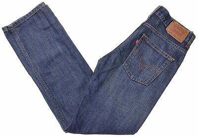 LEVI'S Boys Jeans 11-12 Years W26 L26 Blue Cotton Straight EX03