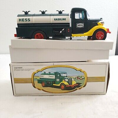 Vintage 1980 The Hess Gasoline Tanker Truck Toy Black Switch Working Lights New